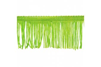 Chainette Fringe 10-Yard Polyester Fringe Rolls for Arts and Crafts, 5.1cm Long, Lime