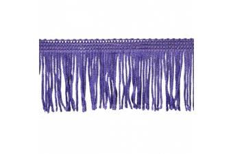 Chainette Fringe 10-Yard Polyester Fringe Rolls for Arts and Crafts, 5.1cm Long, Purple