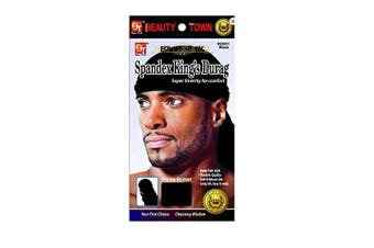 (Black) - Luxury King's Durag - Black, Polyester,, spandex