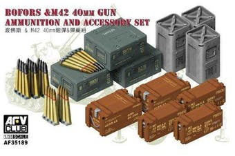 AFV Club BOFORS & M42 Ammunition and Accessory Set 1:35 Scale Military Model Kit