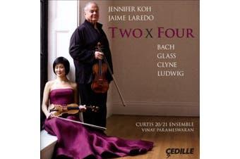 Two x Four: Bach, Glass, Clyne, Ludwig