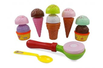 Liberty Imports Sweet Treats Ice Cream Party Pretend Play Food Toy Set for Kids