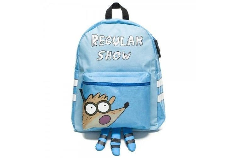 Regular Show Mordecai Hooded Blue Backpack