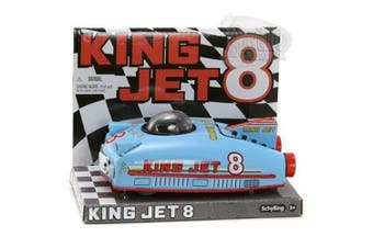 KING JET 8 CAR retro space age BLUE TIN TOY Schylling