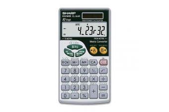 (Black, White, 2 3/4 x 4 11/16) - Sharp EL-344RB - Desktop calculator - 10 digits - solar panel,