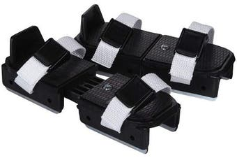 (Black) - A & R Bob Skates Double Runner Strap-on Skates