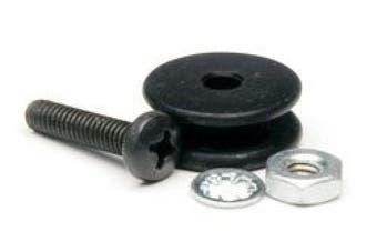 Firestik Universal Replacement Microphone Hanging Button Black Anodized Aluminium RMB-1