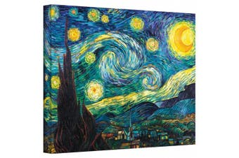 """(36cm  x 46cm ) - """"Starry Night"""" By Vincent Van Gogh Gallery Wrapped Canvas"""