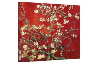 "(Red"",""24"" x 32"") - ""Almond Blossom"" By Vincent Van Gogh Gallery Wrapped Canvas"