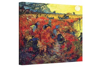"""(36cm  x 46cm ) - """"Red Vineyard At Arles'"""" By Vincent Van Gogh Gallery Wrapped Canvas."""