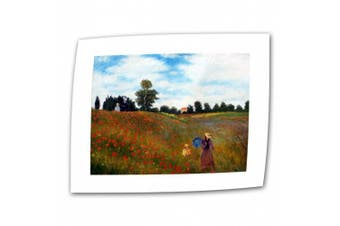 """(Flat/Rolled Canvas"""",""""18"""" x 24"""") - 'Red Poppies at Argentueil' by Claude Monet Canvas Art"""