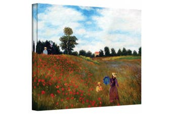 """(Gallery Wrapped"""",""""18"""" x 24"""") - 'Red Poppies at Argentueil' by Claude Monet Canvas Art"""