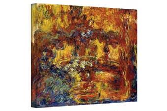 "(Gallery Wrapped"",""24"" x 32"") - 'Japanese Footbridge' By Claude Monet Canvas Art"