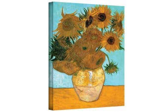 (60cm  x 80cm ) - Vase with Twelve Sunflowers Gallery Wrapped Canvas By Vincent Van Gogh