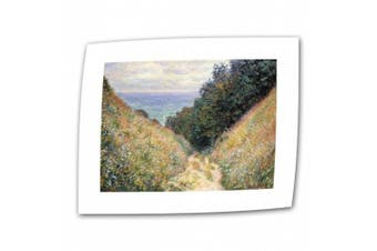 """(Flat/Rolled Canvas"""",""""24"""" x 32"""") - 'Footpath' By Claude Monet Canvas Art Reproduction"""