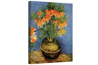 """(Gallery Wrapped"""",""""18"""" x 24"""") - 'Fritillaries' By Vincent Van Gogh Canvas Art"""