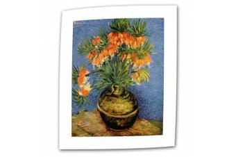 "(Flat/Rolled Canvas"",""18"" x 24"") - 'Fritillaries' By Vincent Van Gogh Canvas Art"