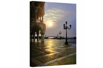 "(46cm  x 60cm ) - ""Venice Piazza 5.1cm Wrapped Canvas By George Zucconi"