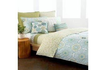 Style & Co Dreamcatcher 2 Euro Shams Print/White/Pale Blue/Green