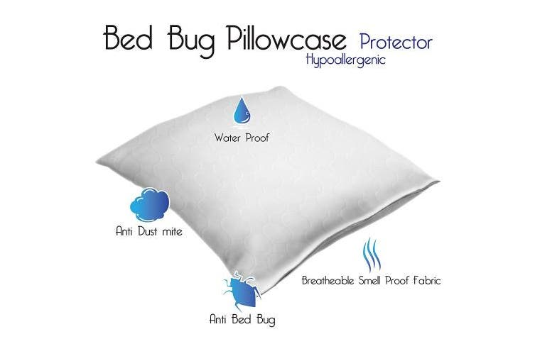 (King) - Remedy Cotton Bed Bug and Dust Mite Pillow Protector, King