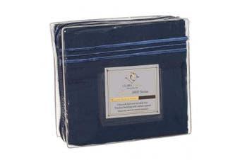 "(California King"",""Navy Blue) - Clara Clark Premier 1800 Series Bed Sheet Collection"