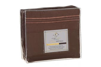 """(King"""",""""Chocolate Brown) - Clara Clark Premier 1800 Series Bed Sheet Collection"""