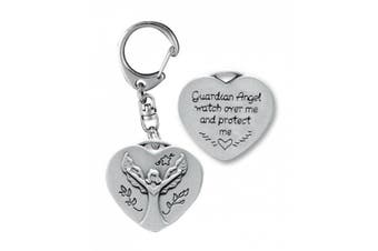 Cathedral Art KR308 Guardian Angel Heart Decorative Key Ring, 7cm