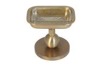 (antiquebrass) - Allied Brass GL-56-ABR Solid Brass Decorative Soap Dish, Antique Brass