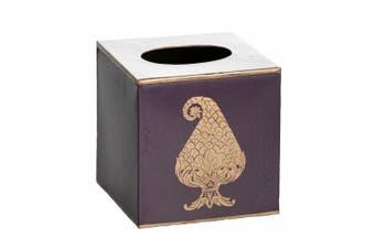 Abigails Kashmir Paisley Tissue Cover/Holder, Purple