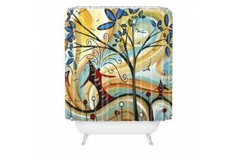 DENY Designs Madart Freshly Bloomed Shower Curtain, 180cm by 180cm