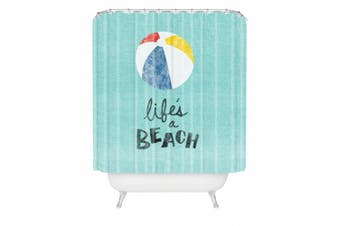 DENY Designs Nick Nelson Life's a Beach Shower Curtain, 180cm by 180cm