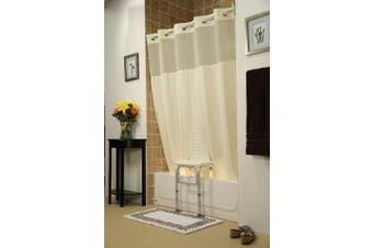 (Beige) - Whitaker Transfer Bench Shower Curtain