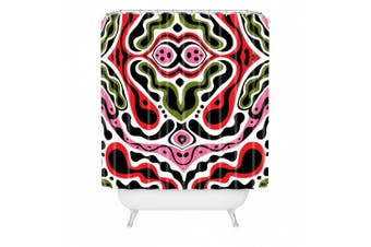 DENY Designs Andi Bird Beat Goes On Red Shower Curtain, 180cm by 180cm