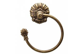 Carpe Diem Hardware 1475-3 Aphrodite Towel Ring, Antique Brass