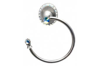Carpe Diem Hardware Carpe Diem 1835-11AB Cache' II Towel ring left (lrg escutcheon) made with. elements Satin Satin