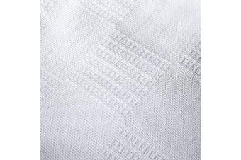 (Full/Queen, White) - Utopia bedding 100% Premium Woven Cotton Blanket (Queen/Full, White) Thermal Cotton Throw Blanket and Quilt for Bed & Couch/Sofa