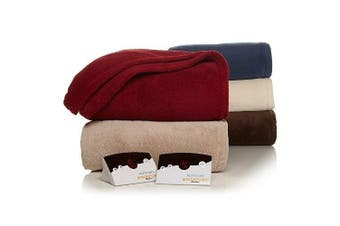 (King, Chocolate) - Biddeford Micro Plush Electric Heated Blanket with Digital Controller, King, Chocolate