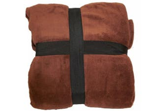 (Full/Queen, Chocolate Brown) - Ultra Super Soft Fleece Plush Luxury BLANKET All Sizes