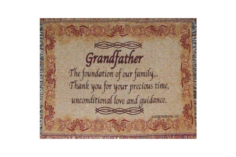 Grandfather Throw Blanket - Gift for Grandpa - Made in USA