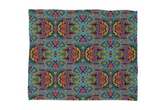 DENY Designs Sharon Turner Ikat Doodle Fleece Throw Blanket, 200cm by 150cm