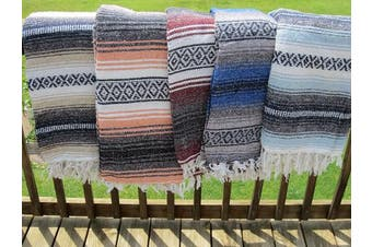 (Assorted) - Authentic Mexican Falsa Blanket