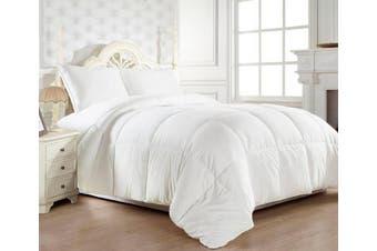 (King, White) - Elegant Comfort® Luxury Goose Down -- WHITE-- Alternative Double Fill Comforter (Duvet Insert), ALL SIZES AVAILABLE - Twin/Twin XL, Full/Queen, King