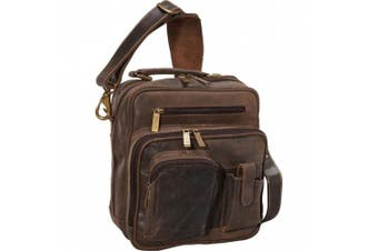 (One Size, Distressed Brown) - Claire Chase Jumbo Man Bag