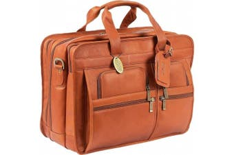 (One Size, Saddle) - Claire Chase Jumbo Executive Computer Briefcase