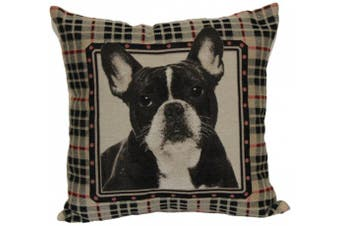 Brentwood 8238 French Bull Dog Tapestry, 46cm Pillow