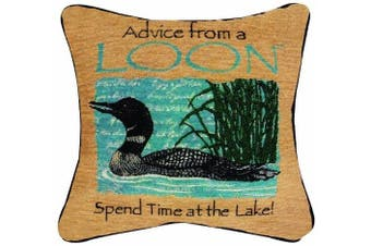Manual Woodworkers & Weavers Advice From a Loon Pillow, 32cm Square