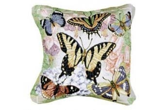 Simply Home Butterflies are Free Tapestry Throw Pillow