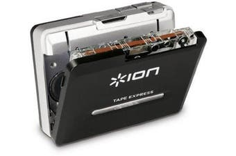 ION Tape Express Plus | Cassette Player and Tape-to-Digital Converter with USB & 0.3cm Out