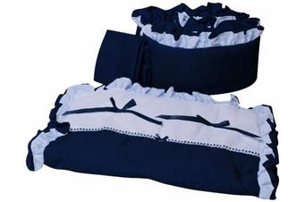 (Navy) - Baby Doll Bedding Regal Cradle Bedding Set, Navy