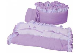 (Lavender) - Baby Doll Bedding Regal Cradle Bedding Set, Lavender